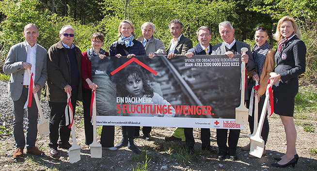Breaking ground for refugee homes