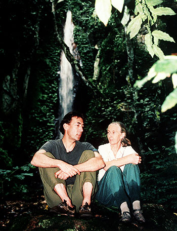 Hubert von Goisern and Jane Goodall