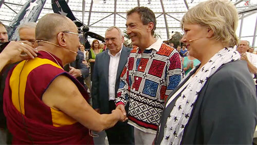 Hubert von Goisern and the Dalai Lama